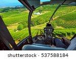 helicopter cockpit flies in... | Shutterstock . vector #537588184