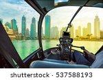 helicopter cockpit flies in...   Shutterstock . vector #537588193