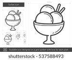 sorbet vector line icon...   Shutterstock .eps vector #537588493