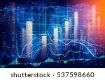 stock market or forex trading... | Shutterstock . vector #537598660
