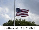 American Flag At Half Mast For...