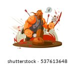 viking battle with ax | Shutterstock .eps vector #537613648