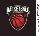 basketball tournament logos ... | Shutterstock .eps vector #537632740