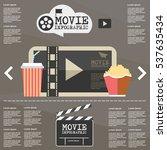 illustration movie infographic... | Shutterstock .eps vector #537635434