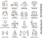 vector set of 16 icons related... | Shutterstock .eps vector #537640960