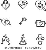 valentine day vector icon set | Shutterstock .eps vector #537642550