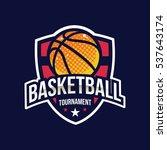 basketball logo  american logo... | Shutterstock .eps vector #537643174
