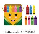Kawaii Cute Color Crayon Box...