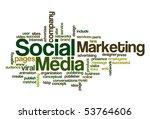 social media marketing   word... | Shutterstock .eps vector #53764606