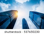 low angle view of business... | Shutterstock . vector #537650230