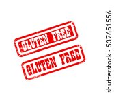 gluten free stamp sign text red. | Shutterstock .eps vector #537651556