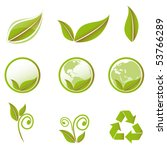 vector green set | Shutterstock .eps vector #53766289