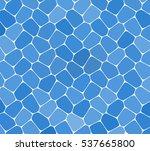 blue mosaic pattern. vector... | Shutterstock .eps vector #537665800