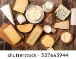 assorted dairy products | Shutterstock . vector #537665944