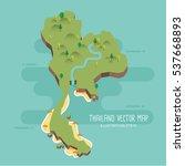 thailand vector map   Shutterstock .eps vector #537668893