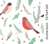 christmas seamless pattern with ...   Shutterstock .eps vector #537669160
