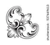 vintage baroque ornament retro... | Shutterstock .eps vector #537669613