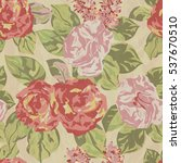 seamless floral pattern with... | Shutterstock .eps vector #537670510