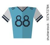 blue jersey player american...   Shutterstock .eps vector #537672784