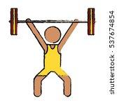 drawing man weight lifter sport ...   Shutterstock .eps vector #537674854