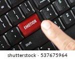 emotion word on red keyboard... | Shutterstock . vector #537675964