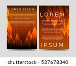 speed flyers template with fire ... | Shutterstock .eps vector #537678340