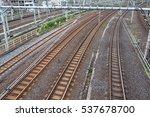 railroad track | Shutterstock . vector #537678700