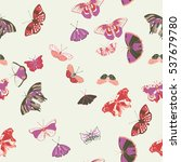 Seamless Pattern With Purple...