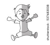 isolated boy cartoon design | Shutterstock .eps vector #537683038