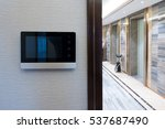 intercom video door bell on the ... | Shutterstock . vector #537687490