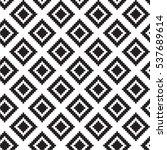 geometric squares seamless... | Shutterstock .eps vector #537689614