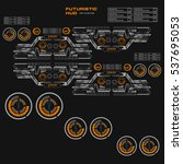 futuristic orange virtual...