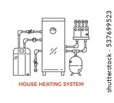 geothermal house heating system ... | Shutterstock .eps vector #537699523
