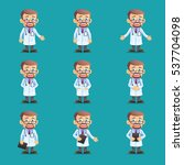 doctor. set of various poses.... | Shutterstock .eps vector #537704098