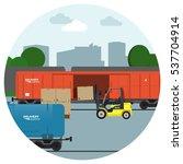 rail transportation. delivery... | Shutterstock .eps vector #537704914