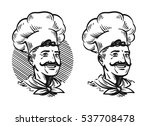 portrait of happy chef. element ... | Shutterstock .eps vector #537708478