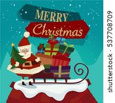 merry christmas banner   vector.... | Shutterstock .eps vector #537708709