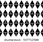 black and white color argyle... | Shutterstock .eps vector #537712588