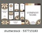 set of six business cards.... | Shutterstock .eps vector #537715183