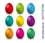 easter eggs set  collection... | Shutterstock .eps vector #537715798