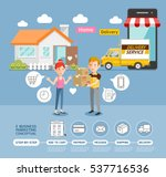 business marketing online... | Shutterstock .eps vector #537716536