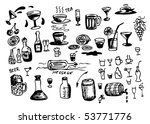 had drawn drink icons | Shutterstock .eps vector #53771776