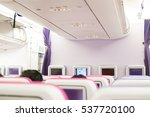 interior of airplane with... | Shutterstock . vector #537720100