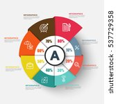 infographic business circle... | Shutterstock .eps vector #537729358