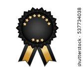 isolated ribbon award icon...