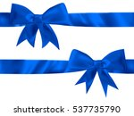 blue bow top view isolated on... | Shutterstock .eps vector #537735790