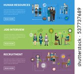 recruitment hr people... | Shutterstock . vector #537737689