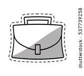 portfolio suitcase business... | Shutterstock .eps vector #537739258