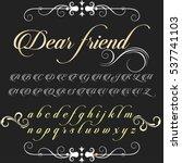 handcrafted vector script... | Shutterstock .eps vector #537741103