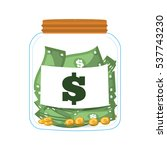 money saving money glass vector ... | Shutterstock .eps vector #537743230
